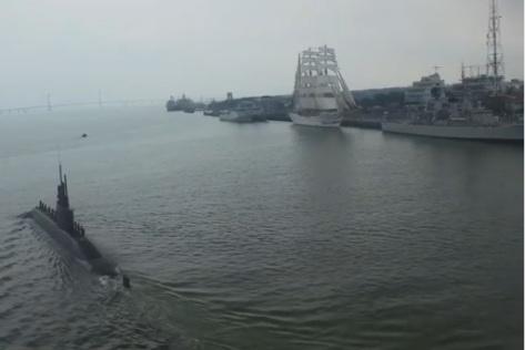 Sea Acceptance Test Kapal Selam KRI Alugoro-405 0