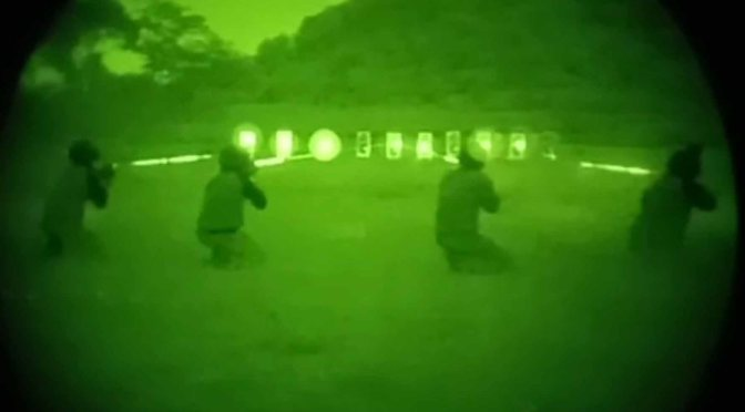 Paskhas Latihan Menembak dengan Thermal Weapon Sight, NVG & IR Laser