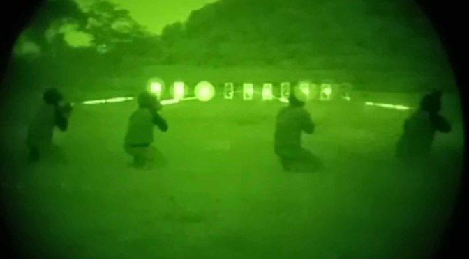 Paskhas Latihan Menembak dengan Thermal Weapon Sight, NVG & IR Laser