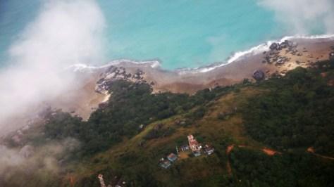Foto udara suasana Kabupaten Natuna, Kepulauan Riau. (Kumparan)