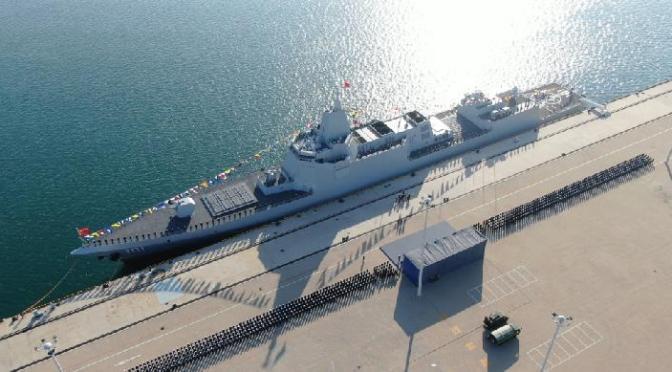 Destroyer Type 055 Nanchang Resmi Bergabung dengan Angkatan Laut Cina