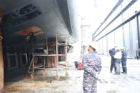 KRI Hasanuddin-366 TNI AL Jalani Docking di Aksaz Dockyard Turki 1