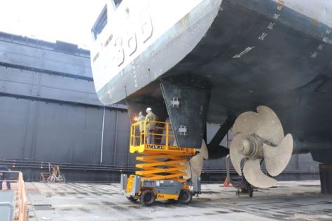 KRI Hasanuddin-366 TNI AL Jalani Docking di Aksaz Dockyard Turki 2