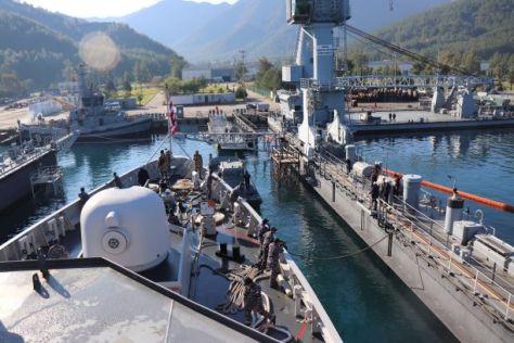 KRI Hasanuddin-366 TNI AL Jalani Docking di Aksaz Dockyard Turki 3