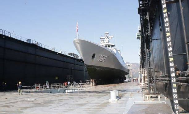 KRI Hasanuddin-366 TNI AL Jalani Docking di Aksaz Dockyard Turki