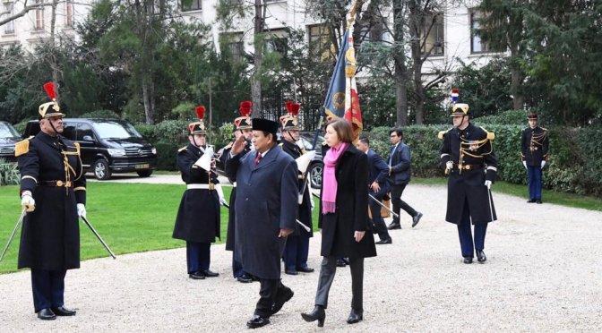Menteri Pertahanan Kunjungi Parancis Untuk Pererat Kerja Sama Bilateral dan Alutsista