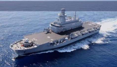 Algeria's Kalaat Béni Abbès, which is similar in design to the LPD that Fincantieri is building for Qatar.