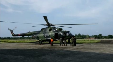 Helikopter MI-17 dengan nomor registrasi HA-5138 milik TNI Angkatan Darat yang hilang kontak sejak 28 Juni 2019 di Oksibil. (Penerangan Kodam XVII Cendrawasih)