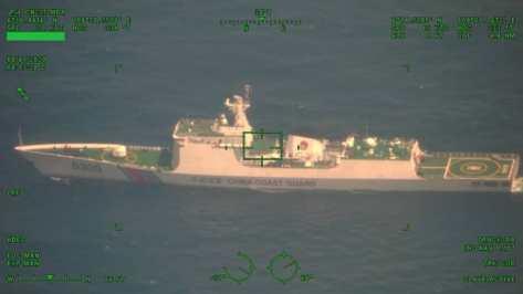 Kapal Coast Guard Cina Melintas di ZEE Indonesia Tanpa Nyalakan Transponder