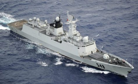 Kapal Perang Type 054A Milik PLAN, Yiyang, Saat Dalam Pelayaran. (defenseupdates)