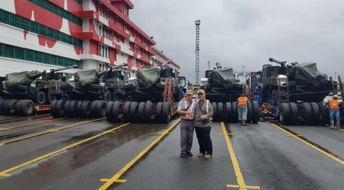 12 Unit Caesar SPH Pesanan Kementerian Pertahanan Tiba