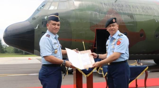 Pesawat Hercules C-130 A-1338 dari Australia Tiba di Lanud Abdulrachman Saleh