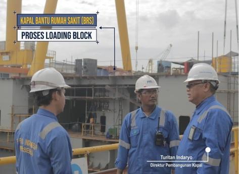 Progres Pembangunan Kapal Bantu Rumah Sakit (BRS) 124M