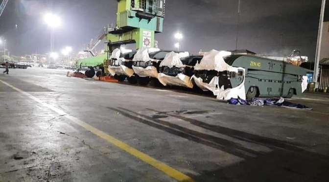 Rantis Baru Zeni TNI AD Tiba di Pelabuhan Tanjung Priok