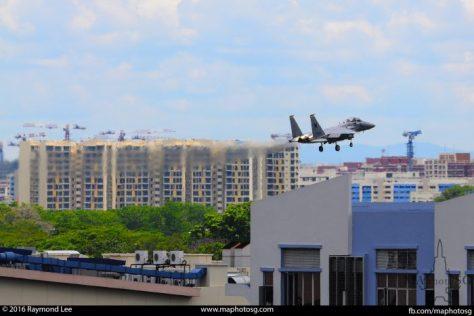 RSAF F-15SG returing to Paya Lebar Airbase