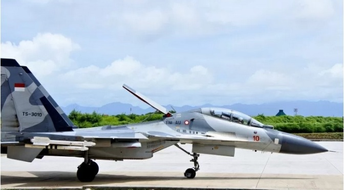 Empat Pesawat Tempur Sukhoi TNI AU Patroli di Wilayah NTT