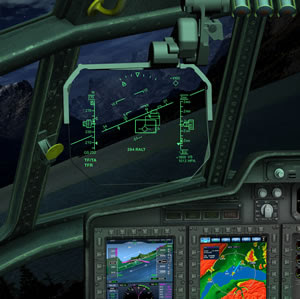 The Head-Up Display view of the TF TA system (Elbit Systems)