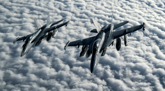 AS Berhasil Terbangkan Jet Tempur EA-18G Growler Tanpa Awak