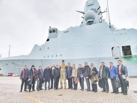 Dubes RI dan Delri Kementerian Pertahanan RI kunjungi kapal Iver Huitfeldt Class di Royal Danish Naval Base, Korsør Denmark. 26022020 (KBRI Denmark) 2