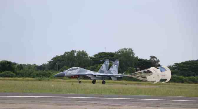 Skadron Udara 11 Gelar Latihan Dog Fight dan BVR di Lanud Iswahjudi
